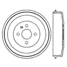 Centric Brake Drum  Rear