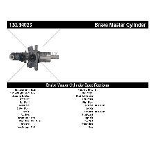 Centric Brake Master Cylinder