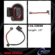 Centric Disc Brake Pad Wear Sensor  Rear