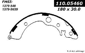 Centric Drum Brake Shoe  Rear