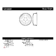 Centric Brake Drum  Front