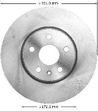 Bendix Disc Brake Rotor  Front
