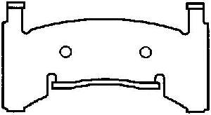 Bendix Disc Brake Pad Set  Front