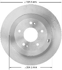 Bendix Disc Brake Rotor  Rear