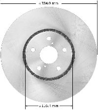 Bendix Disc Brake Rotor  Front Left