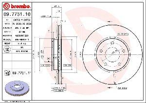 Brembo Disc Brake Rotor  Front