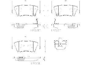 Brembo Disc Brake Pad Set  Rear