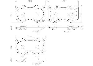 Brembo Disc Brake Pad Set  Front
