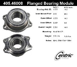 Centric Wheel Bearing Assembly  Rear