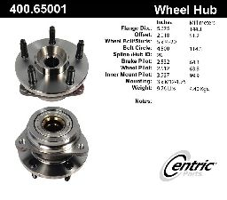 Centric Axle Bearing and Hub Assembly  Front