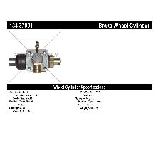 Centric Drum Brake Wheel Cylinder  Front Left Lower