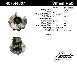 Centric Wheel Bearing and Hub Assembly  Front