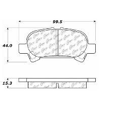 Centric Disc Brake Pad Set  Rear