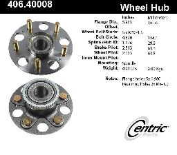 Centric Wheel Bearing and Hub Assembly  Rear