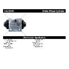 Centric Drum Brake Wheel Cylinder  Rear Left