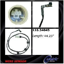 Centric Disc Brake Pad Wear Sensor  Rear