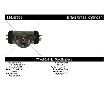 Centric Drum Brake Wheel Cylinder  Rear