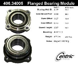 Centric Wheel Bearing Assembly  Rear