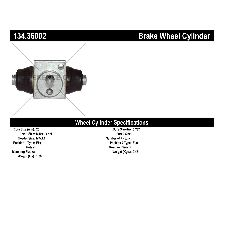 Centric Drum Brake Wheel Cylinder  Rear