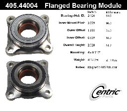 Centric Wheel Bearing Assembly  Front