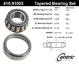 Centric Wheel Bearing and Race Set  Front Outer