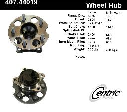 Centric Wheel Bearing and Hub Assembly  Rear Right