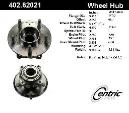 Centric Axle Bearing and Hub Assembly  Rear