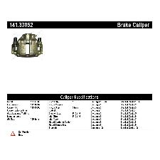 Centric Disc Brake Caliper  Front Left