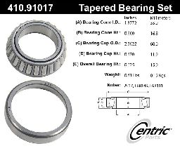 Centric Wheel Bearing and Race Set  Front Inner