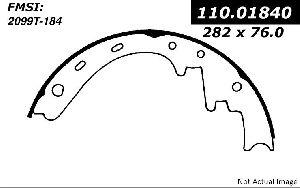 Centric Drum Brake Shoe  Front
