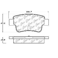 Centric Disc Brake Pad  Rear