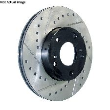 Centric Disc Brake Rotor  Front Left