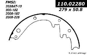 Centric Drum Brake Shoe  Front