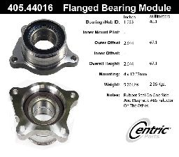 Centric Wheel Bearing and Hub Assembly  Rear Left