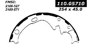 Centric Drum Brake Shoe  Rear