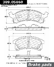 Centric Disc Brake Pad  Front