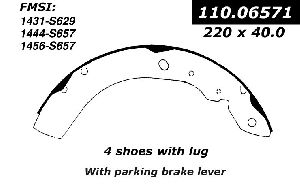Brake shoe dodge intrepid oemparts on dodge shadow 2 5