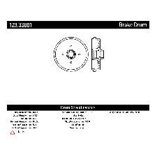 Centric Brake Drum  Rear