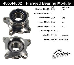 Centric Wheel Bearing Assembly  Rear Left