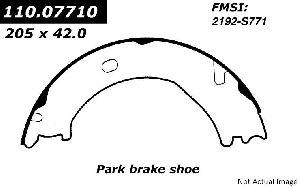 Centric Parking Brake Shoe  Rear