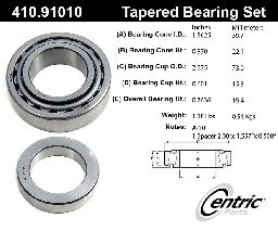 Centric Wheel Bearing and Race Set  Rear