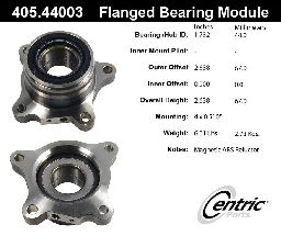 Centric Wheel Bearing Assembly  Rear Right