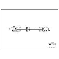 Corteco Brake Hydraulic Hose  Rear