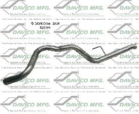 Davico Converters Exhaust Tail Pipe  Rear