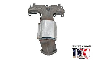 DEC Catalytic Converter with Integrated Exhaust Manifold  Left