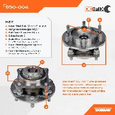 Dorman Wheel Bearing and Hub Assembly  Front Left