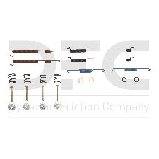 Dynamic Friction Drum Brake Hardware Kit  Rear