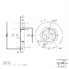 Dynamic Friction Disc Brake Rotor  Front Left