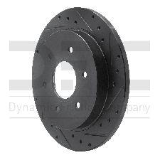 Dynamic Friction Disc Brake Rotor  Rear Right