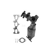 Eastern Catalytic Catalytic Converter with Integrated Exhaust Manifold  Front Right